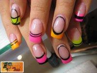 Neon Colored Acrylic Nail Designs@^*