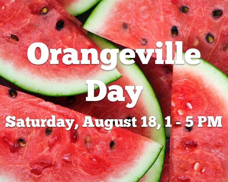 Orangeville Day, Saturday August 18, 1 – 5PM