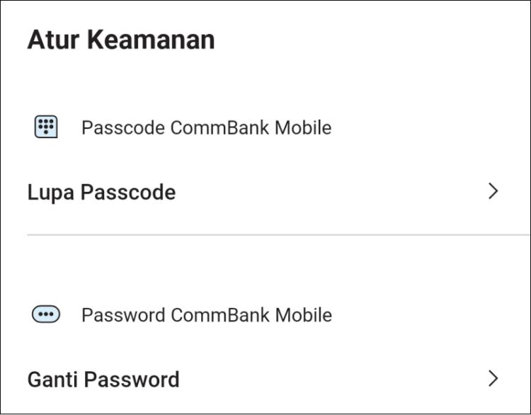 Fitur keamanan aplikasi CommBank Mobile milik Bank Commonwealth Indonesia