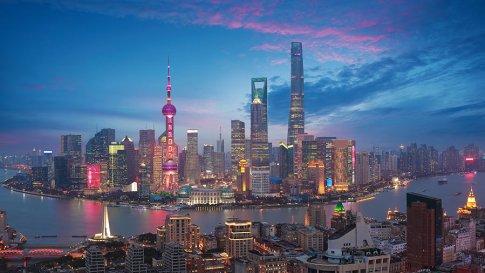 China Shanghai Malam Tenggelam