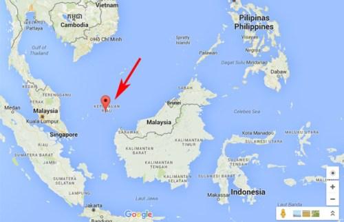Peta Pulau Natuna