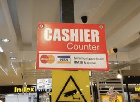 Cashier Minimum Payment