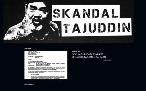 Dokumen Skandal Tajuddin