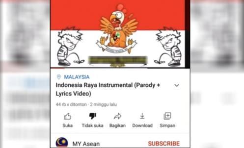 Parodi Hina Lagu Indonesia Raya