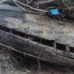 Bangkai kapal lama ditemukan penduduk kampung selepas banjir, dipercayai berusia 150 tahun