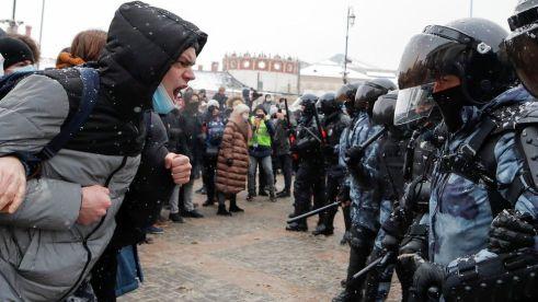 Polis Moscow Rusuhan Protes