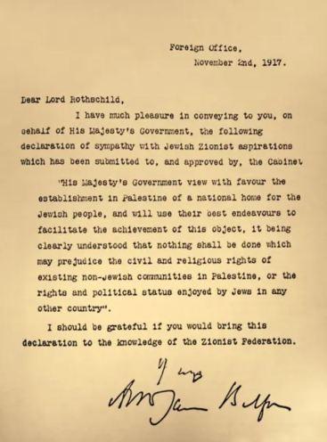 surat balfour