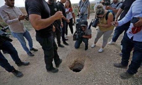 lubang gali korek palestin israel gilboa prison
