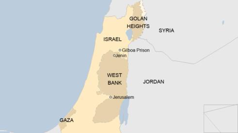 sempadan jordan syria israel gilboa
