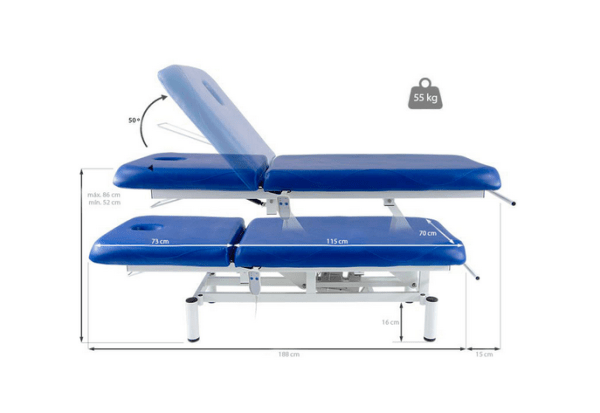 Two Section Electric Treatment Table Q PLUS 1 with Moveable Backrest 9