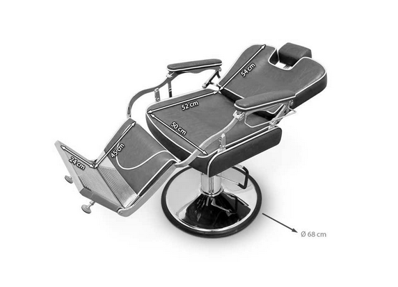 Grey Indiana Barber Chair 3