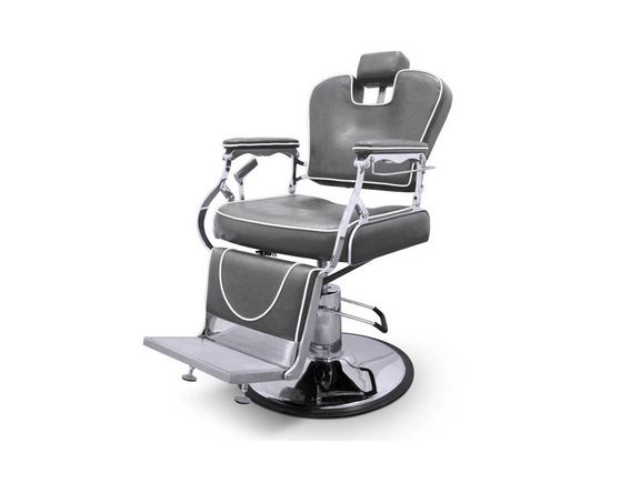 Grey Indiana Barber Chair 1