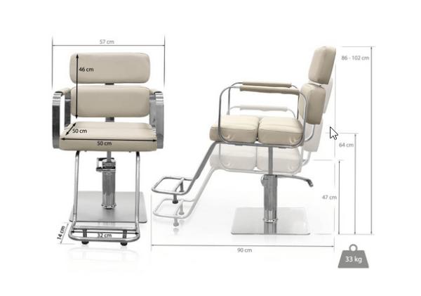 Hairdressers Chair Venezia Gray 2