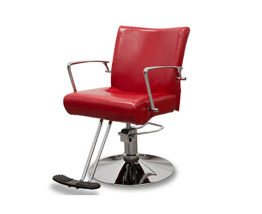 Hairdressers Chair Vicenza Red 1