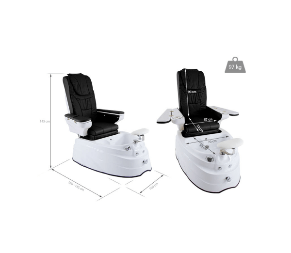 Pedicure Chair with Hydromassage System and Music Player - DELUXE PLUS 6