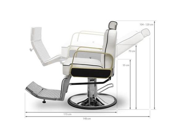 Tucson Barber Chair White 3