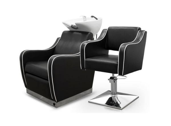 Black Pompeya Hairdresser Chair 5