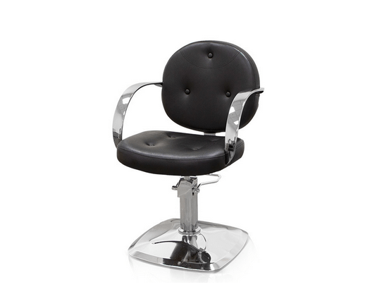 Black Roma Hairdressers Chair 1