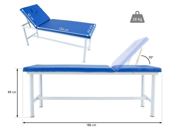 Steel Stationary Massage Table with Face Plug 3