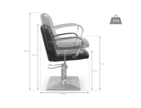 Styling Chair Alessandria Black 3