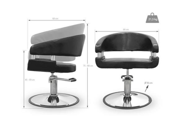 Amalfi Black Styling Chair 2