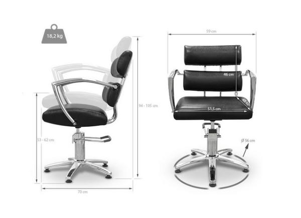 Black Garda Styling Chair 2