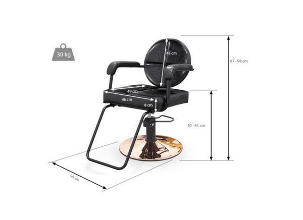 Black Messina Styling Chair 2