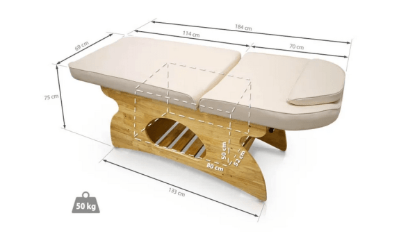 Wooden SPA Massage Table Fixed With Shelf 3