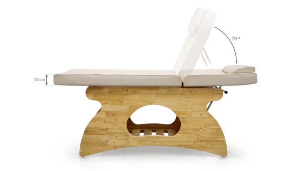 Wooden SPA Massage Table Fixed With Shelf 4