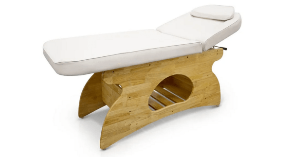 Wooden SPA Massage Table Fixed With Shelf 1