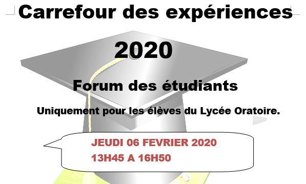 carrefour des experiences 2020 lycee oratoire et college sainte marie auch