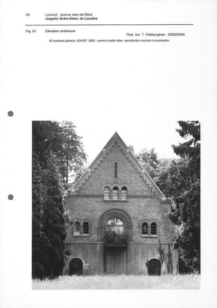 La chapelle N.D de Lourdes (Photo de Tigerghien