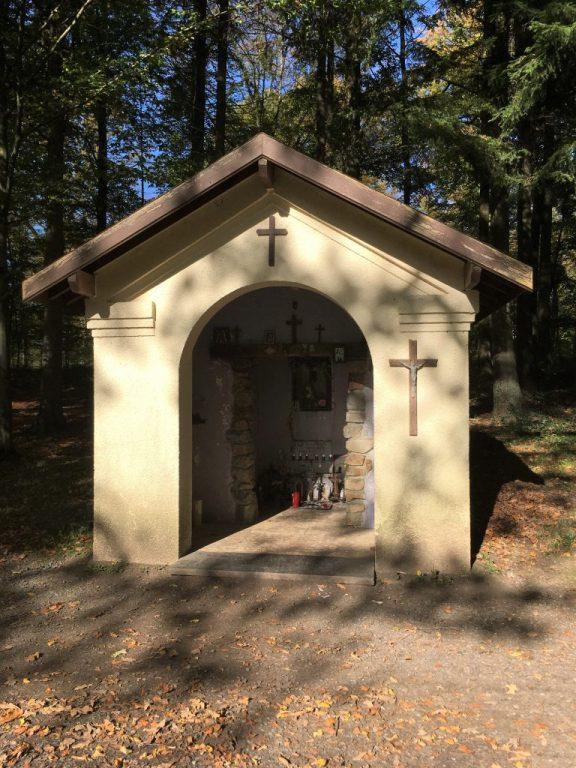 Chapelle N.D du Bois . Route forestière du Trou Colette