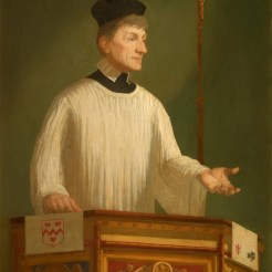 John Henry Newman depicted preaching.