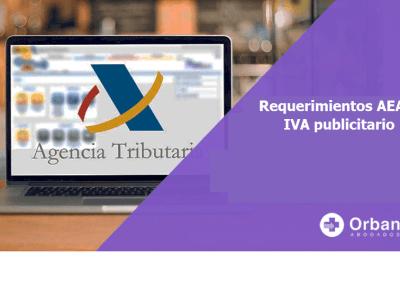 IVA publicitario requerimientos Agencia Tributaria