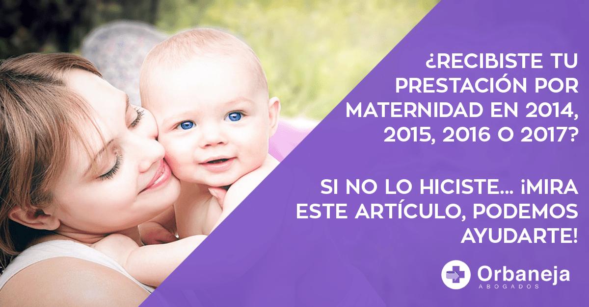 La prestación por maternidad está exenta en el IRPF