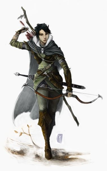 crivon-elfa-florestal-rastreadora-378x600 Reinos de Toran: O Reino Élfico de Iluminah