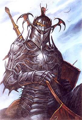 Branigharran-mounted_black_knight Estratagema do Obscuro: a princesa sacerdotisa e o aeroprisma