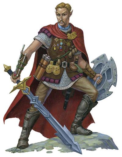 crivon-meio-elfo-fighter Povos de Crivon: Meio Elfos