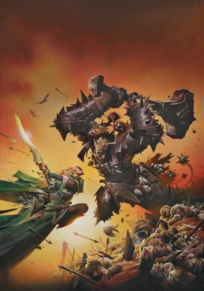 Corellon-vs-gruumsh-420x600 Povos de Crivon: Meio Orcs