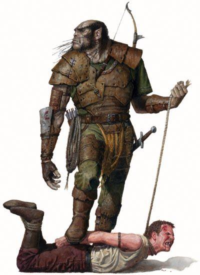 cacador Povos de Crivon: Meio Orcs