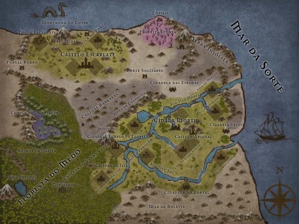 Cidade-Morth-e-Reino-de-Pedra-Rubi Mapas de Crivon: Reinos e Rotas