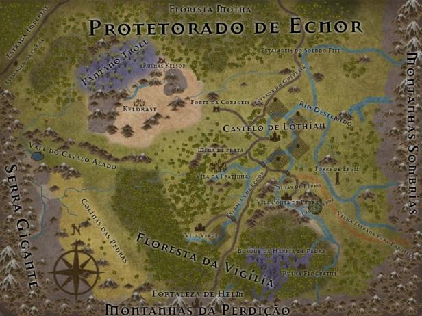 Protetorado-de-Ecnor Mapas de Crivon: Reinos e Rotas