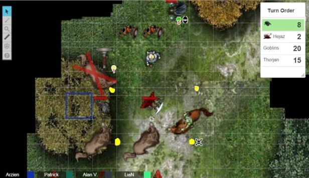 Arzien_Combate_Goblins A Coroa da Ruína, 1ª Parte: Atravessando Grishtar, sessão II