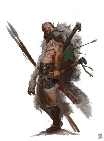 Pathfinder_Bárbaro14-443x600 Bárbaros da Neve [Os Schnai]
