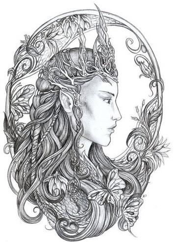 pintura-da-rainha-titania Povos de Crivon: Elfos