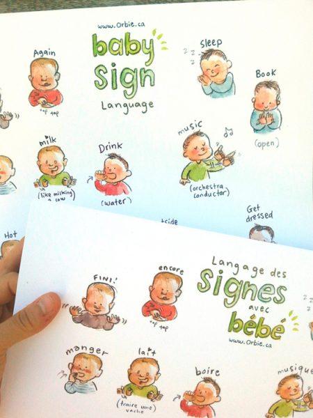 Langage Des Signes Bébé Gratuit : langage, signes, bébé, gratuit, Affiche, Langage, Signes, Bébé, Illustrations, Orbie