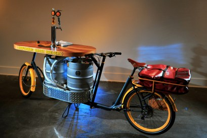 The Hopworks Beer Bike - the very first of its kind.