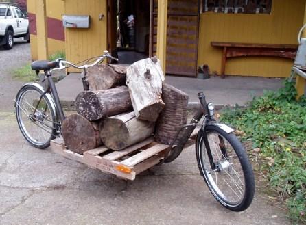 The ultimate log bike!
