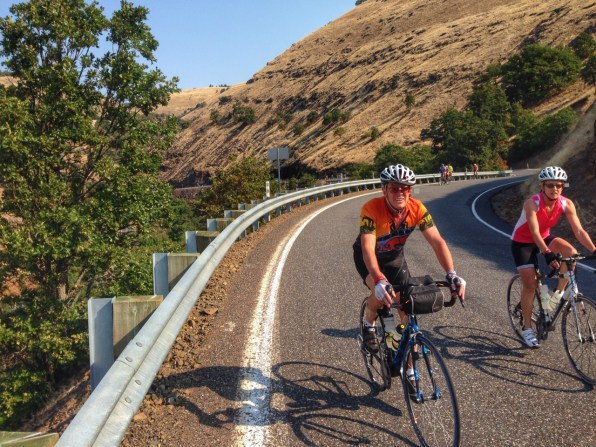 There was a lot of this on Cycle Oregon 2014. Here we're climbing up toward Glenwood, WA